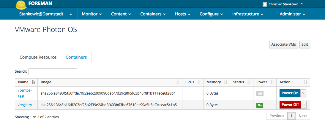 Manage VMware Photon OS containers with Foreman and Red Hat
