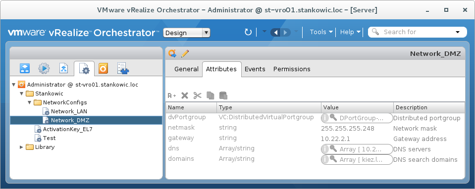 vRealize Orchestrator Configuration Elements in a nutshell